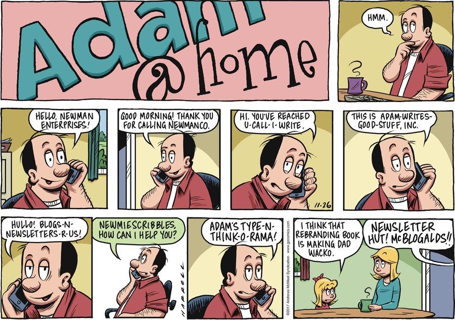 Adam@Home for Nov 26, 2017 Comic Strip