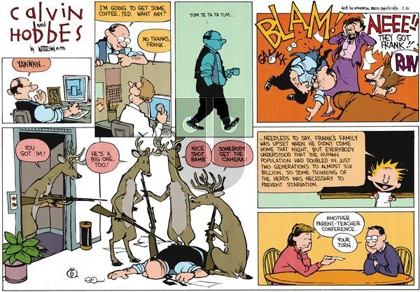 Calvin and Hobbes - Sunday February 26, 1995 Comic Strip