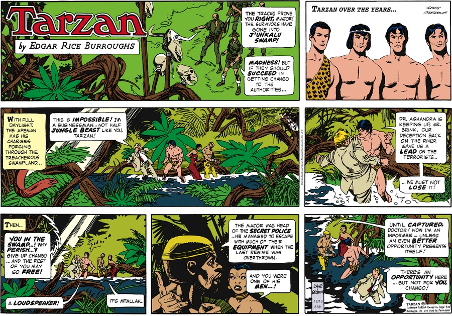 Tarzan Comic Strip for December 13, 2020