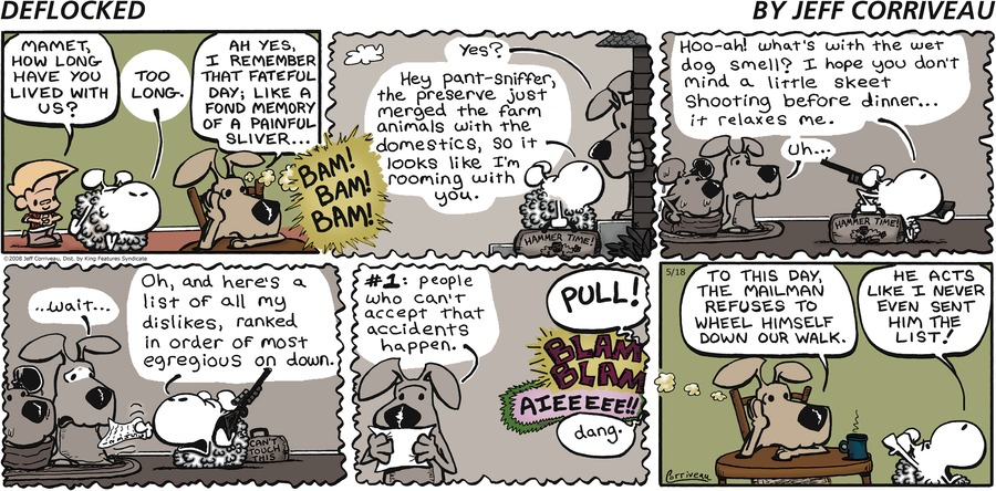 DeFlocked Comic Strip for May 18, 2008