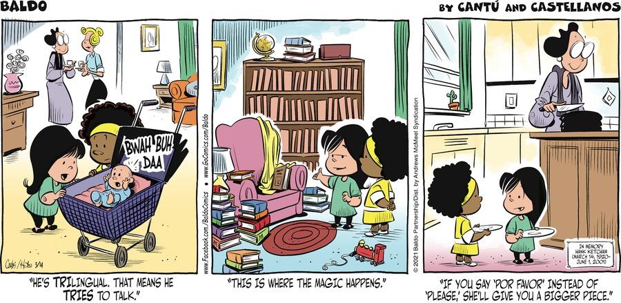Baldo Comic Strip for March 14, 2021