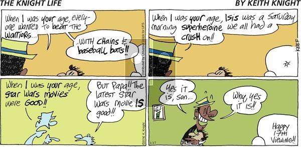 The Knight Life on Sunday January 17, 2016 Comic Strip