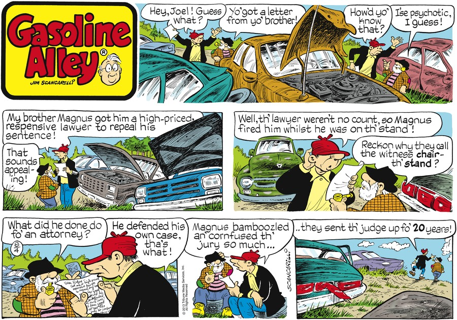 Gasoline Alley for Aug 4, 2013 Comic Strip