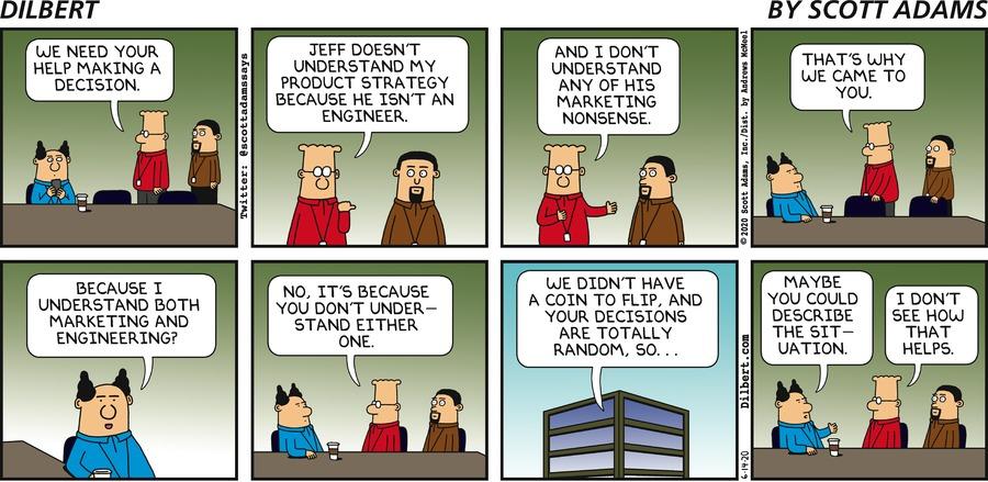 Need Boss To Make Decision - Dilbert by Scott Adams