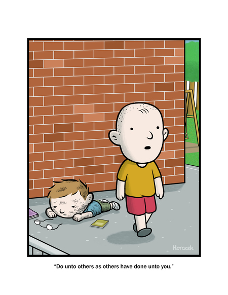 Foolish Mortals by Tom Horacek for April 15, 2019