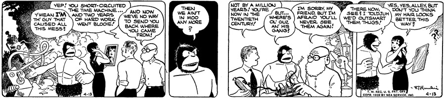 Alley Oop Comic Strip for April 13, 1939