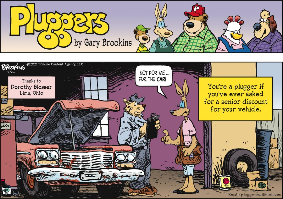 Pluggers Comic Strip for July 26, 2020