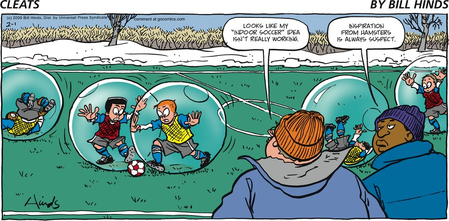 Cleats Comic Strip for February 01, 2009