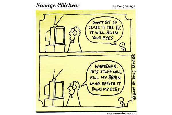 Savage Chickens for May 31, 2013 Comic Strip