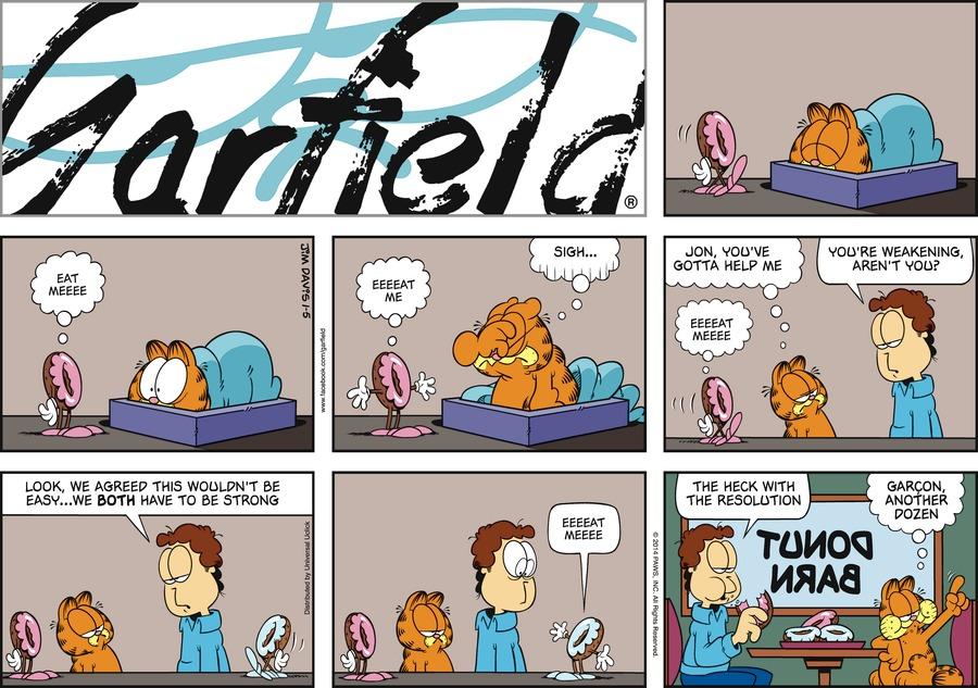 Garfield Comic Strip for January 05, 2014