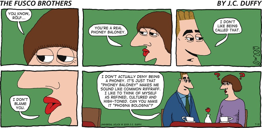 The Fusco Brothers for Jul 21, 2013 Comic Strip