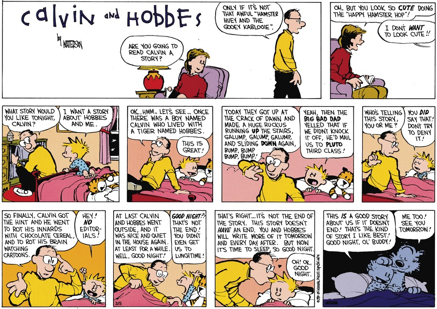 Calvin and Hobbes Comic Strip for April 22, 1990
