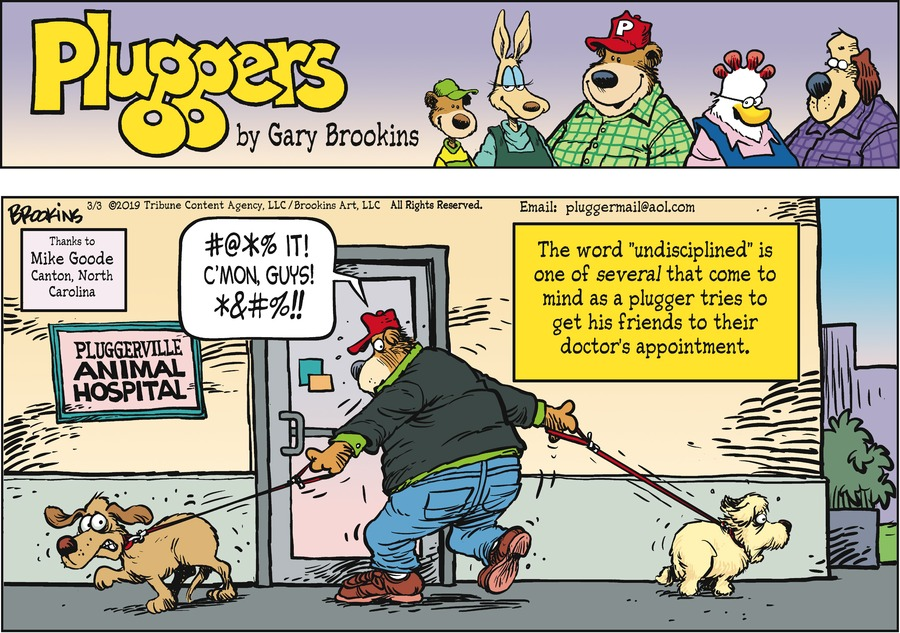 Pluggers Comic Strip for March 03, 2019