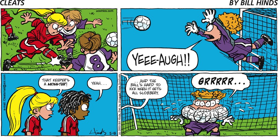 Cleats Comic Strip for May 18, 2003