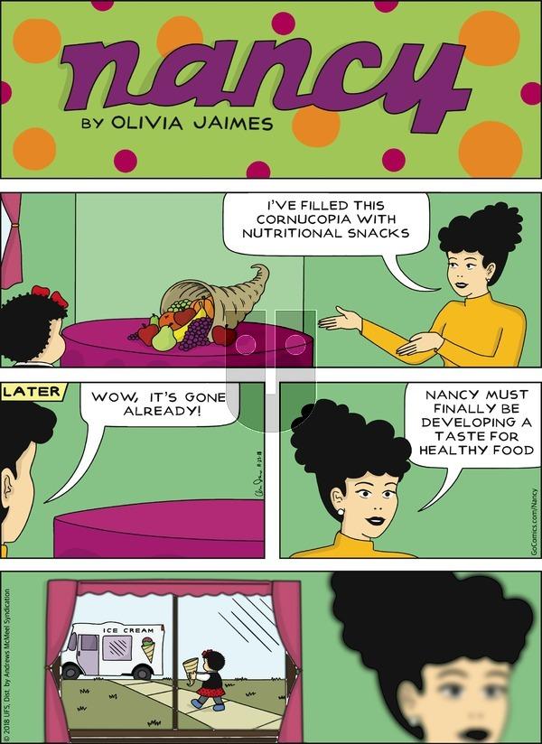 Nancy on Sunday November 25, 2018 Comic Strip