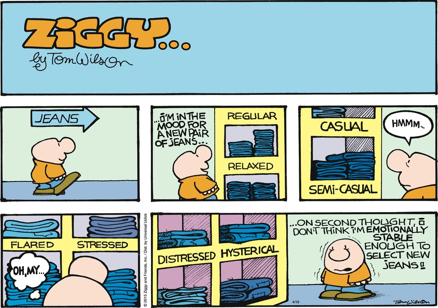 Ziggy Comic Strip for April 19, 2015