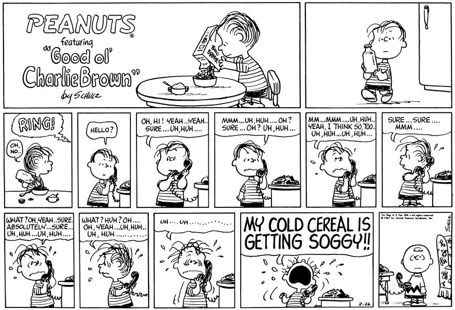 Peanuts Comic Strip for February 26, 1967