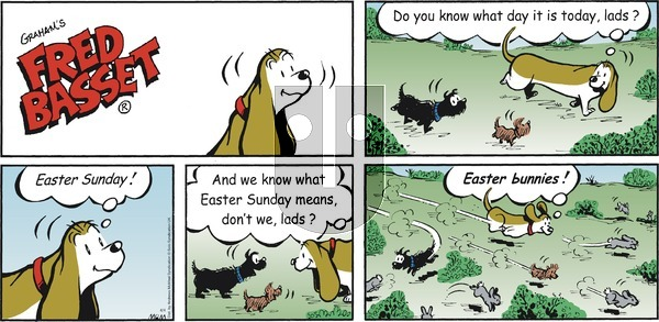 Fred Basset on Sunday April 4, 2021 Comic Strip