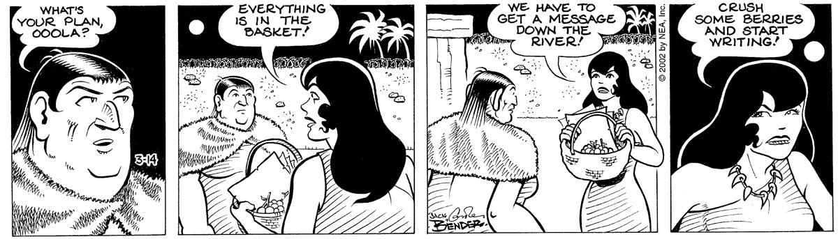 Alley Oop for Mar 14, 2002 Comic Strip