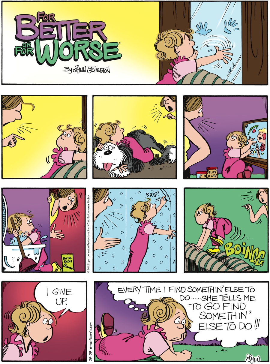 For Better or For Worse for Sep 9, 2012 Comic Strip