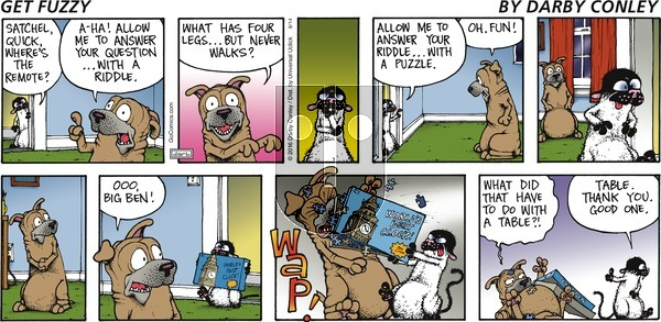 Get Fuzzy on Sunday August 14, 2016 Comic Strip