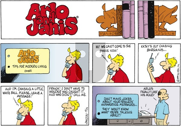 Arlo and Janis on Sunday October 24, 1999 Comic Strip