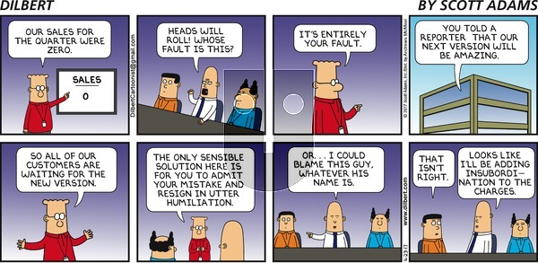 Dilbert on Sunday April 23, 2017 Comic Strip