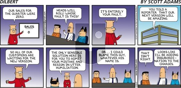 Dilbert on Sunday April 23, 2017 Comic Strip