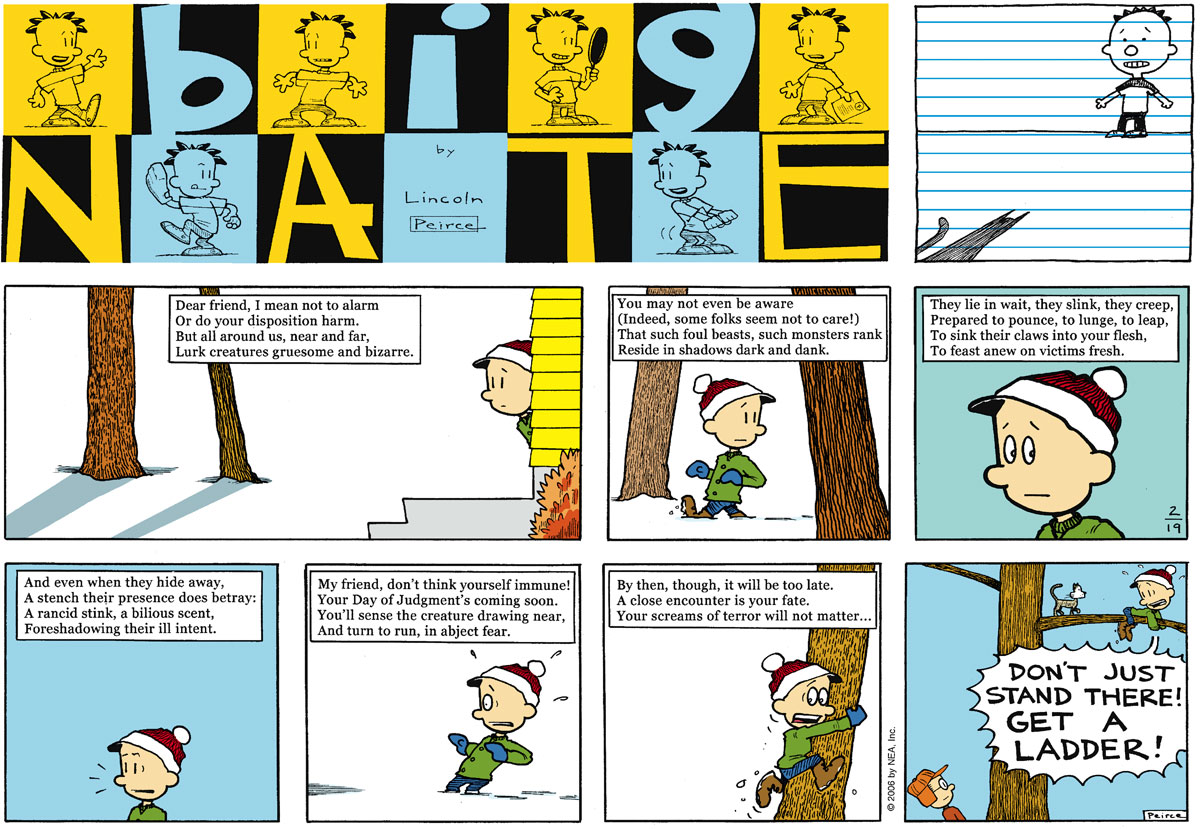 Big Nate Comic Strip for February 19, 2006