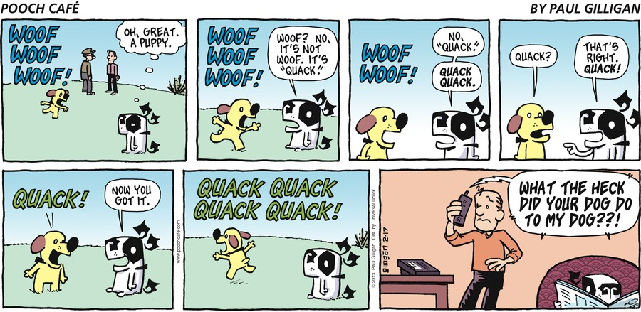 Pooch Cafe Comic Strip for February 17, 2013