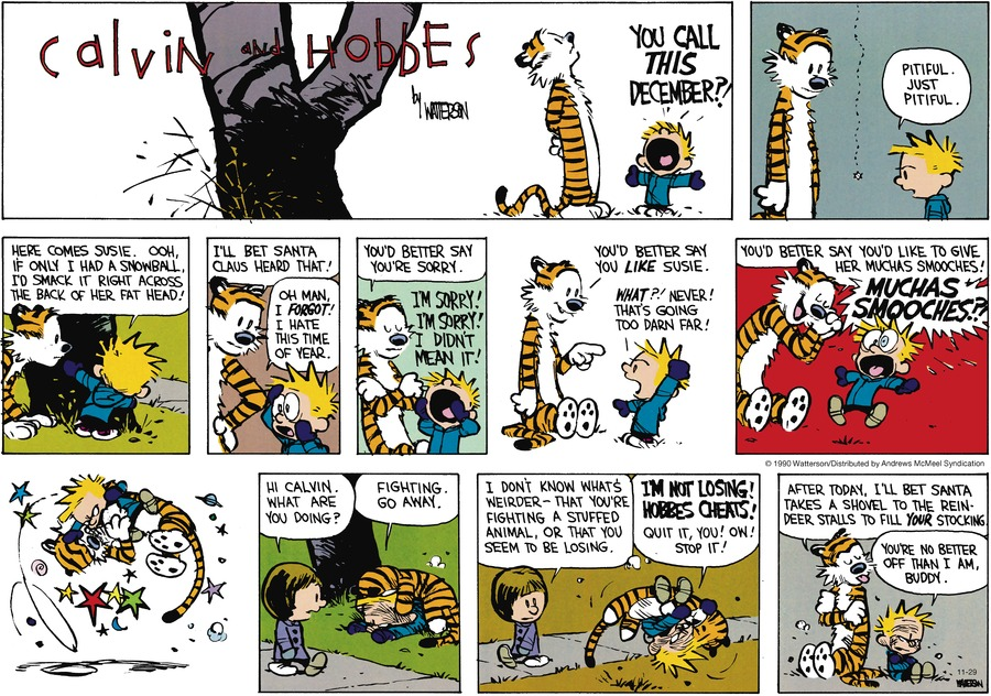 Calvin and Hobbes Comic Strip for November 29, 2020