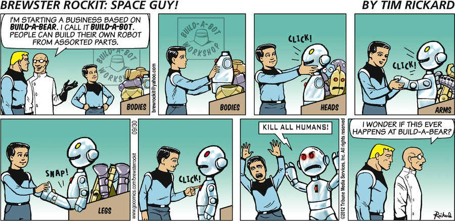 Brewster Rockit for Sep 30, 2012 Comic Strip