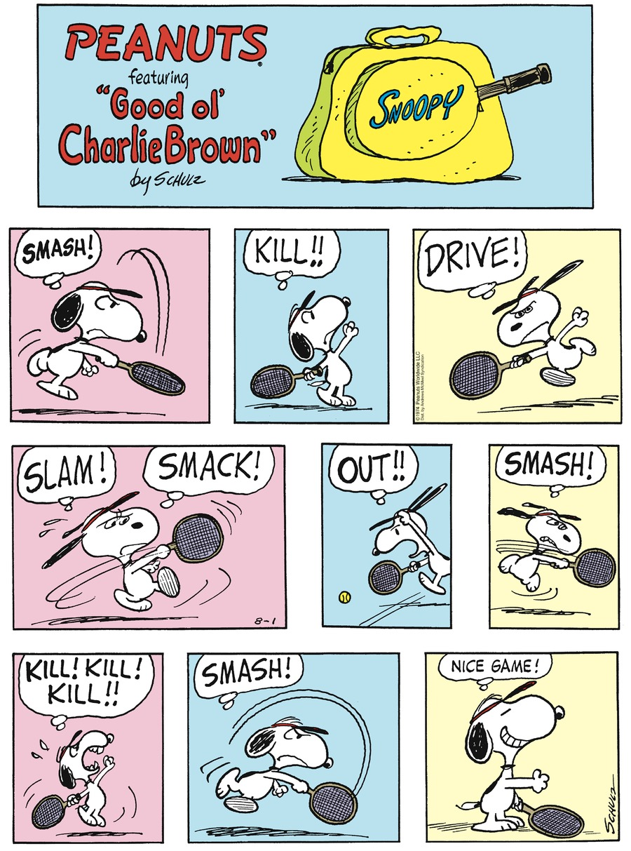 Peanuts Comic Strip for August 01, 2021