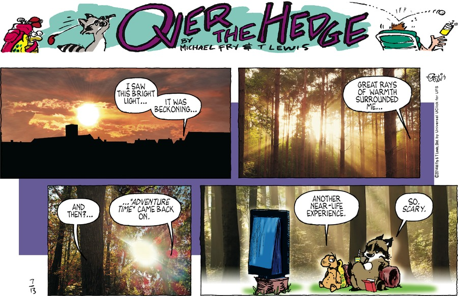 Over the Hedge for Jul 13, 2014 Comic Strip