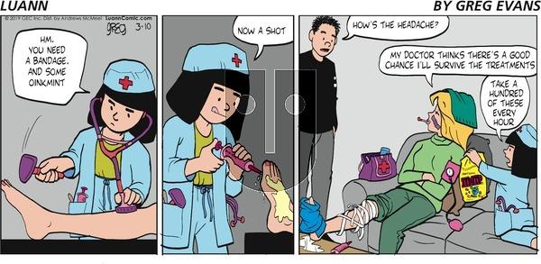 Luann on Sunday March 10, 2019 Comic Strip
