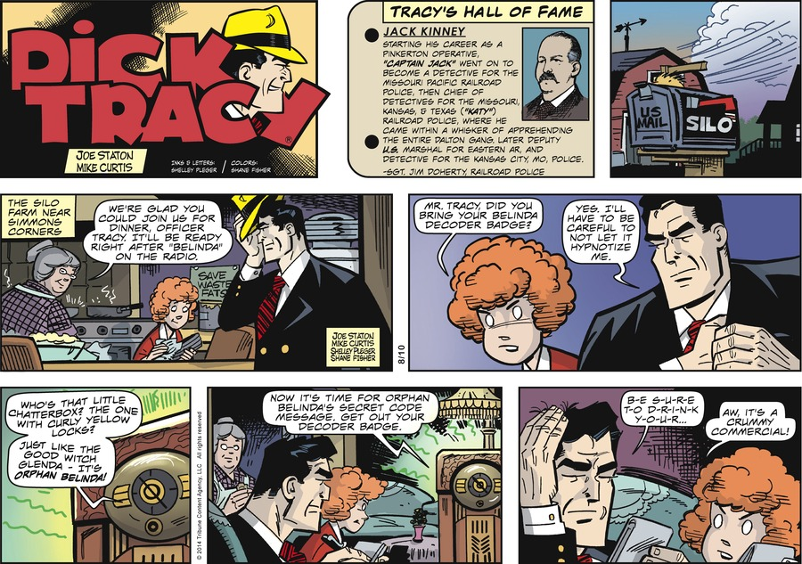 Dick Tracy Comic Strip for August 10, 2014