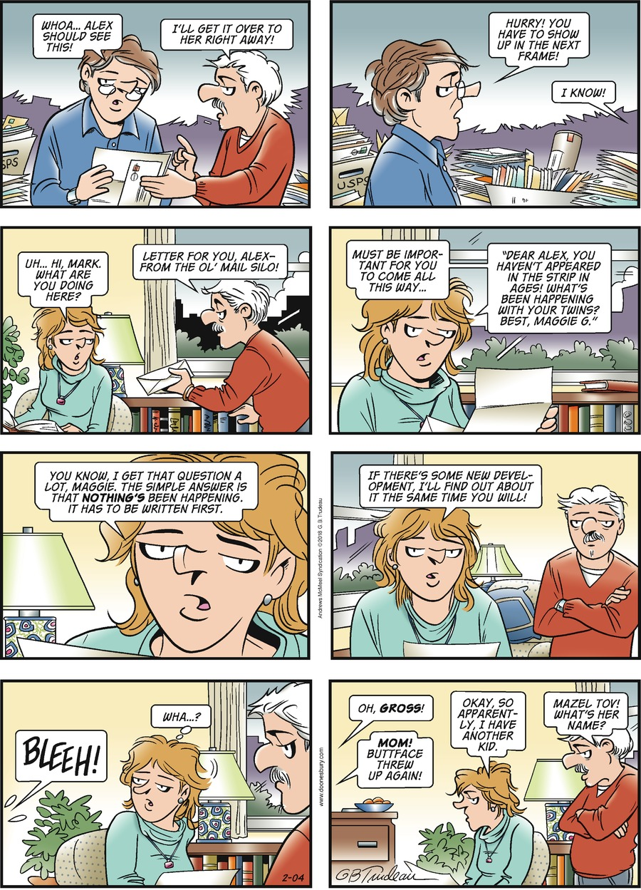 Doonesbury Comic Strip for February 04, 2018