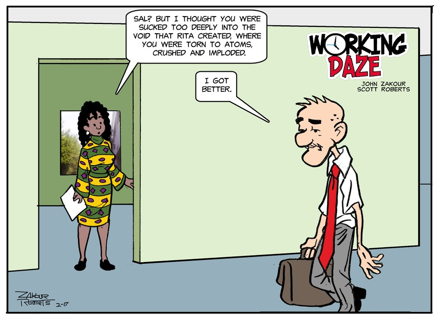 Working Daze Comic Strip for February 17, 2019