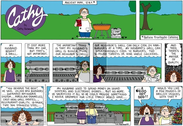 Cathy Classics on Sunday July 10, 2011 Comic Strip
