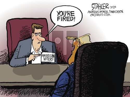 Jeff Stahler on Sunday November 8, 2020 Comic Strip