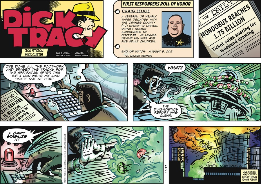 Dick Tracy by Mike Curtis and Shelley Pleger on Sun, 17 Oct 2021