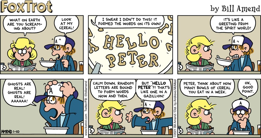 FoxTrot by Bill Amend on Sun, 10 Jan 2021