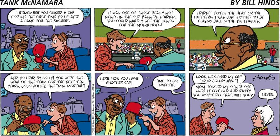 Tank McNamara Comic Strip for May 17, 2015