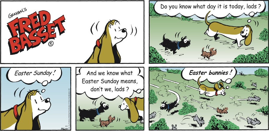 Fred Basset Comic Strip for April 04, 2021