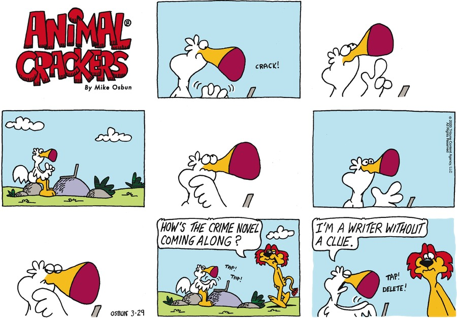 Animal Crackers Comic Strip for March 29, 2020