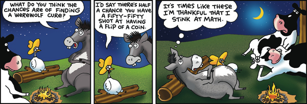 2 Cows and a Chicken Comic Strip for March 13, 2017
