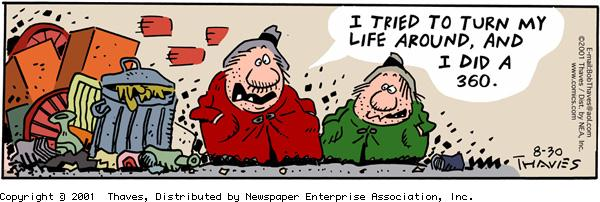 Frank and Ernest Comic Strip for August 30, 2001