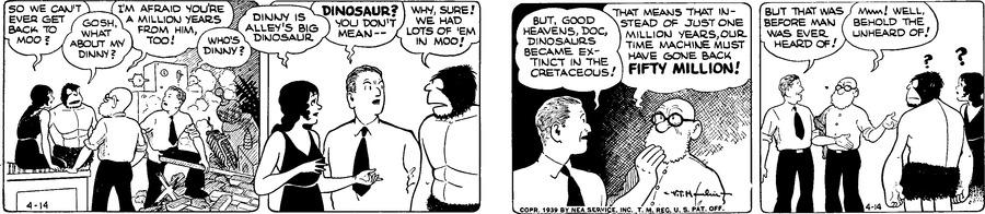 Alley Oop Comic Strip for April 14, 1939