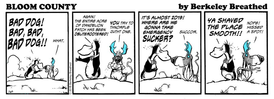 Bloom County 2018 by Berkeley Breathed for January 07, 2019