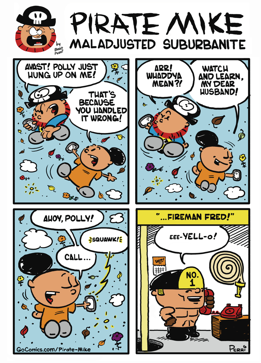 Pirate Mike Comic Strip for October 21, 2019
